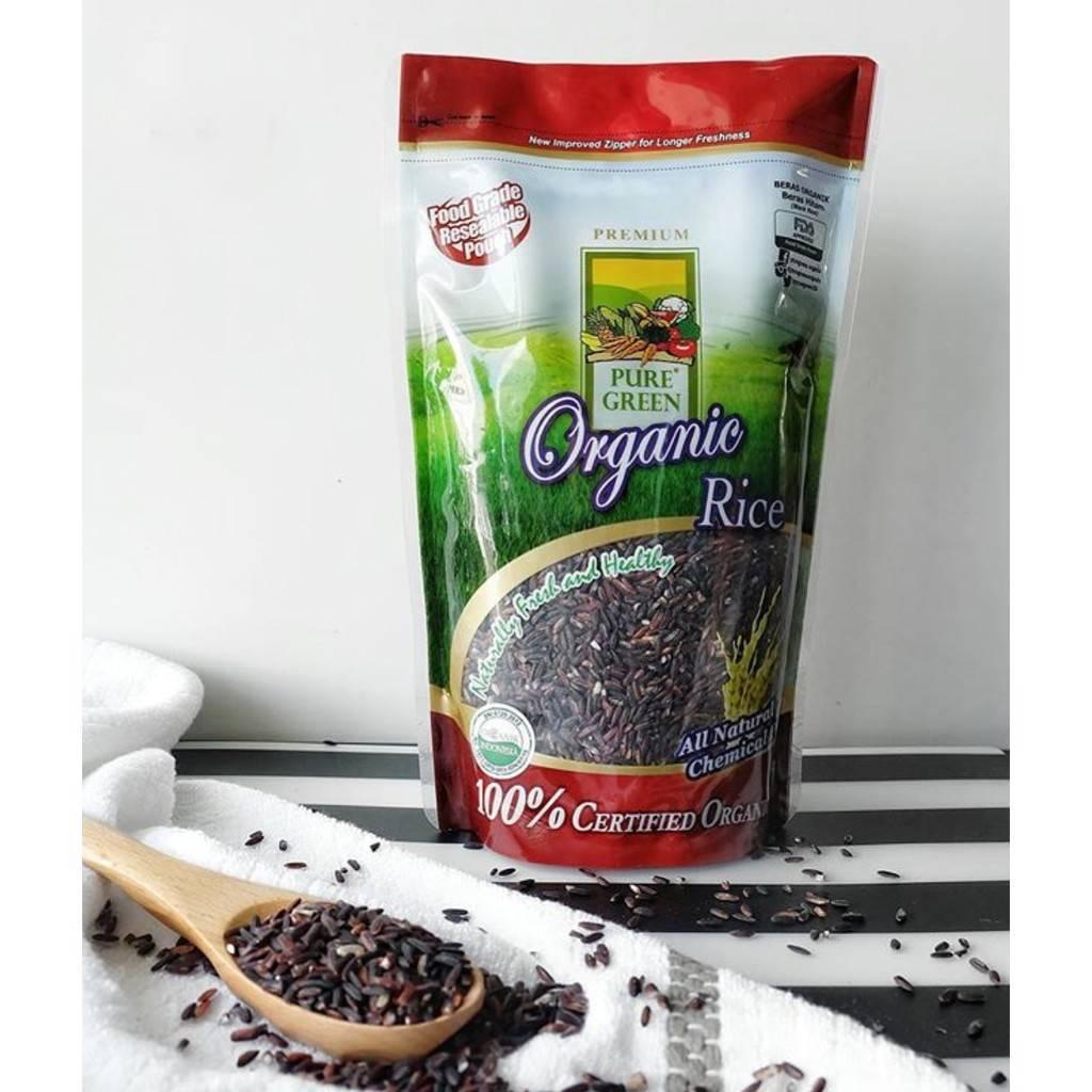 Beras Organik Pure Green Organic Beras Hitam 1kg