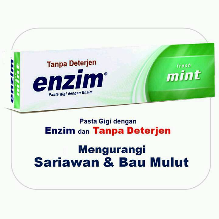 Enzim Original Fresh Mint [160g/ 130ml] Toothpaste (family Size)