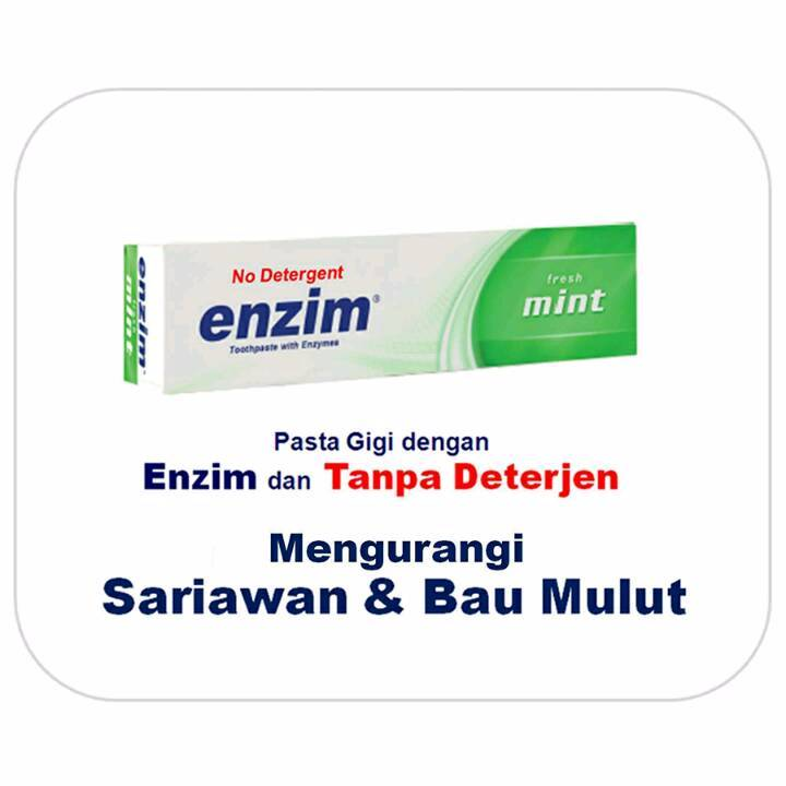 Enzim Original Fresh Mint [42g/ 35ml] Toothpaste (travel Size)