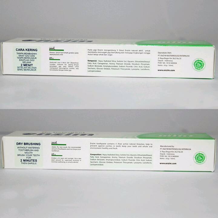 Enzim Original Fresh Mint [42g/ 35ml] Toothpaste (travel Size)3
