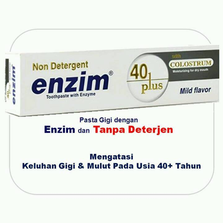 Enzim 40 Plus With Colostrum [124g/ 100ml] Toothpaste