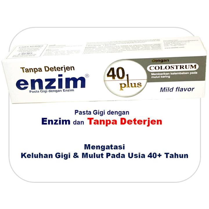 Enzim 40 Plus With Colostrum [160g/ 130ml] Toothpaste (family Size)