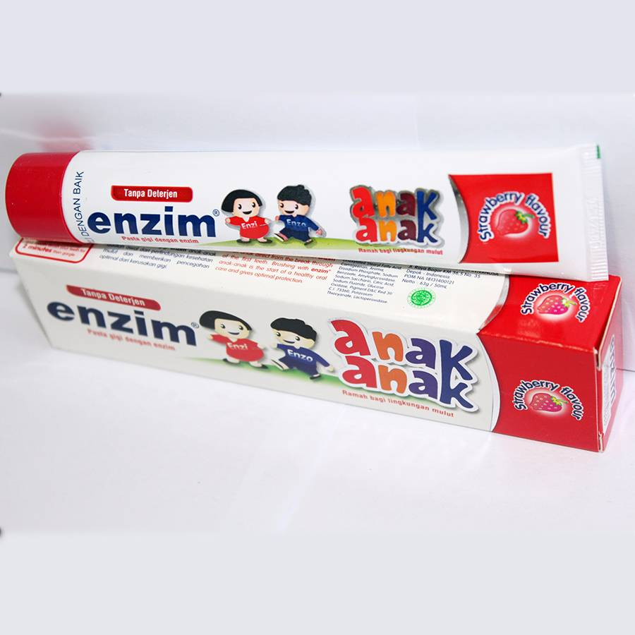 Enzim Anak Strawberry [63g/ 50ml] Toothpaste1