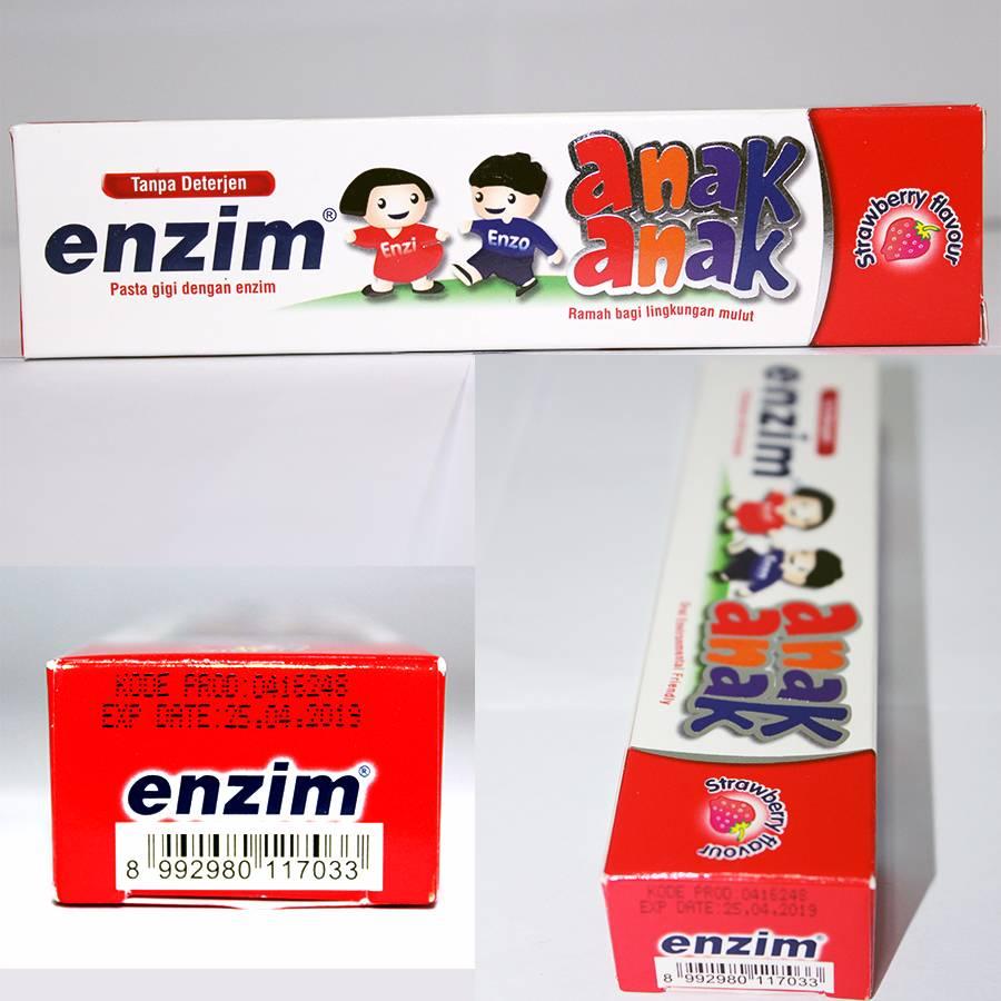 Enzim Anak Strawberry [63g/ 50ml] Toothpaste2