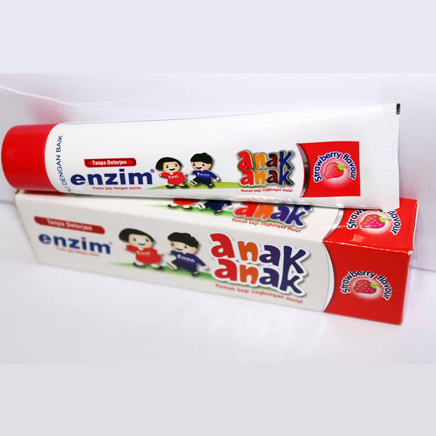 Enzim Anak Strawberry [42g/ 35ml] Toothpaste (travel Size)1