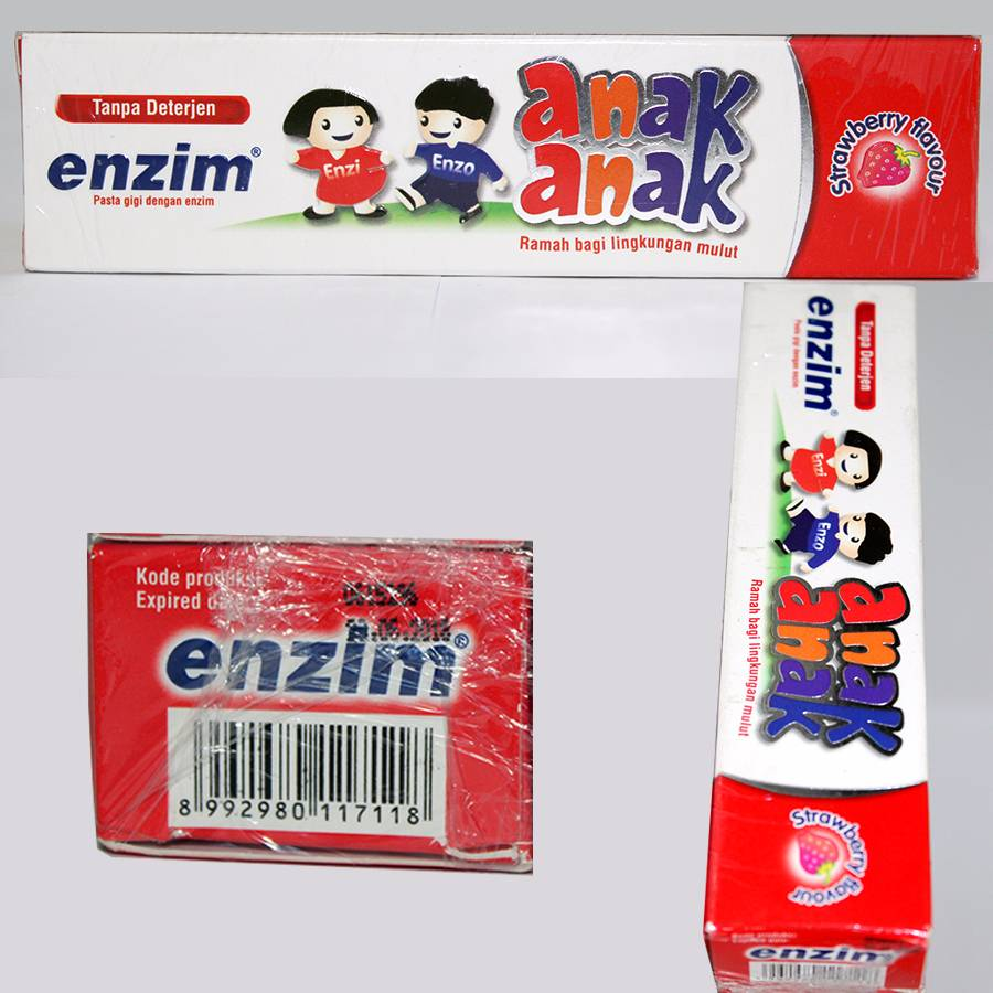 Enzim Anak Strawberry [42g/ 35ml] Toothpaste (travel Size)2