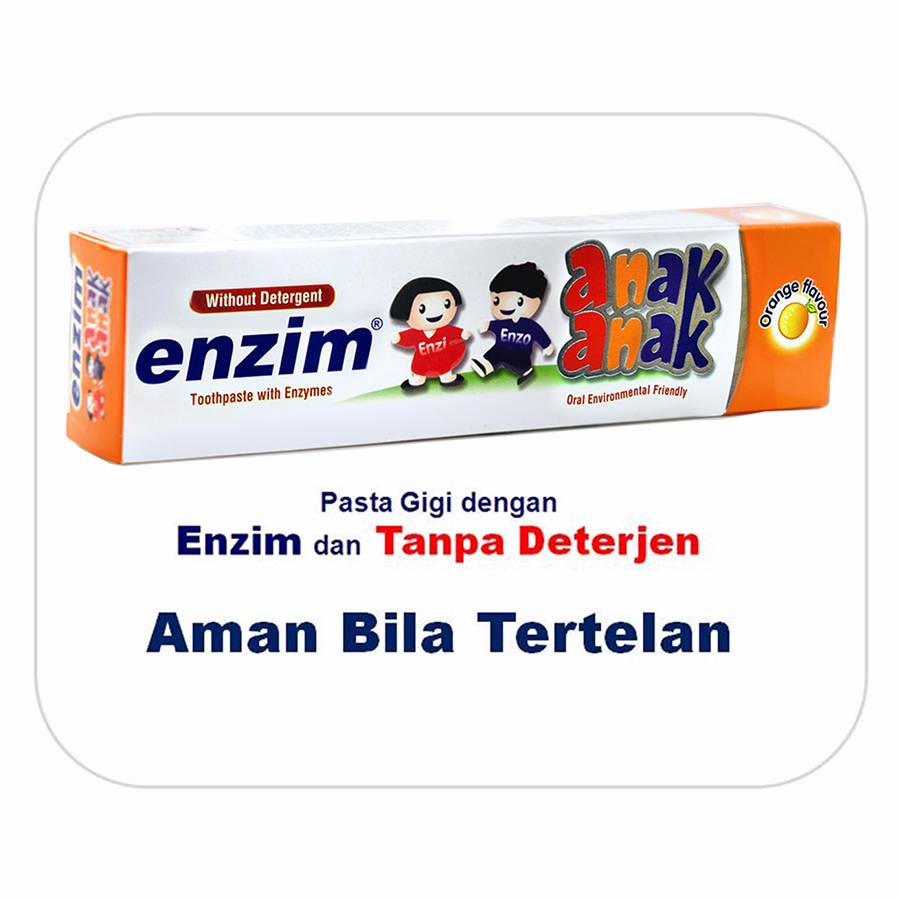 Enzim Anak Orange [42g/ 35ml] Toothpaste (travel Size)