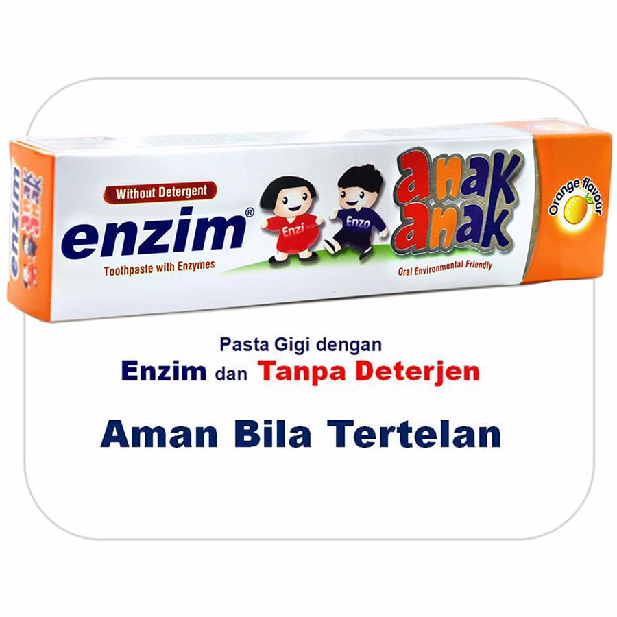 Enzim Anak Orange [63g/ 50ml] Toothpaste