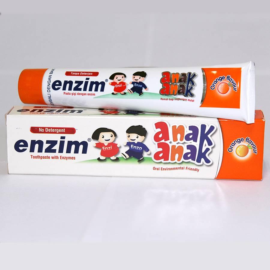 Enzim Anak Orange [63g/ 50ml] Toothpaste1