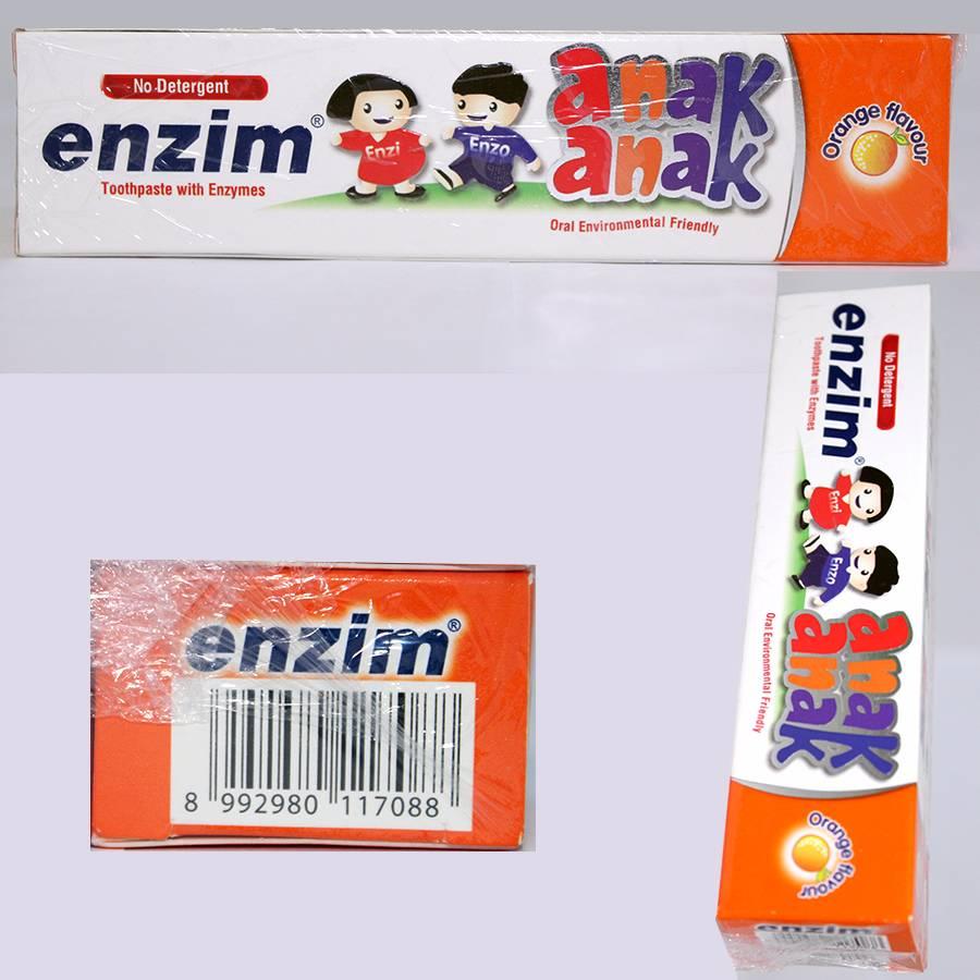 Enzim Anak Orange [63g/ 50ml] Toothpaste2