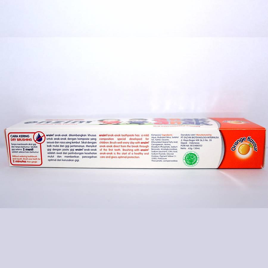 Enzim Anak Orange [63g/ 50ml] Toothpaste3