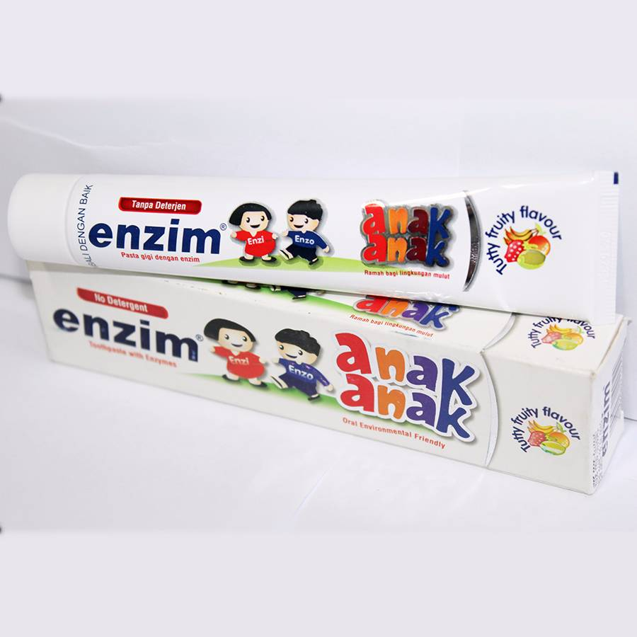 Enzim Anak Tutty Fruity [63g/ 50ml] Toothpaste1