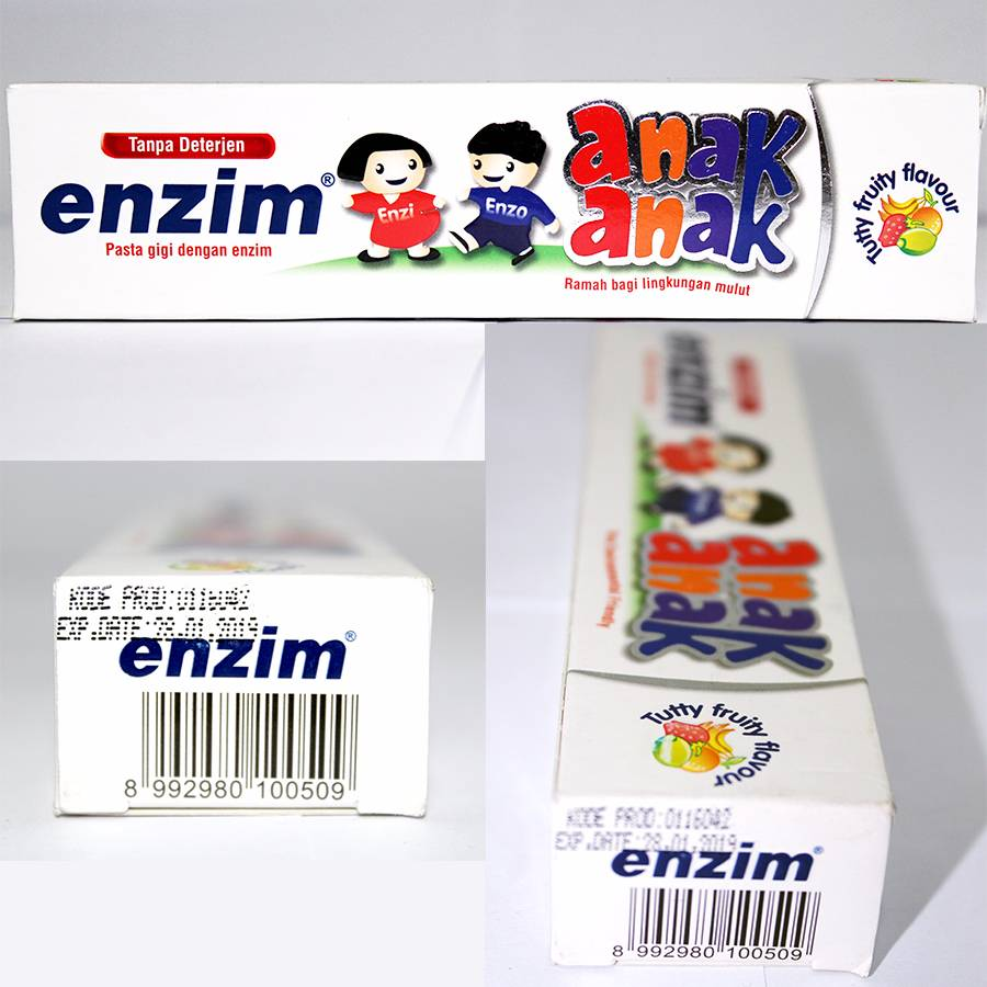 Enzim Anak Tutty Fruity [63g/ 50ml] Toothpaste2