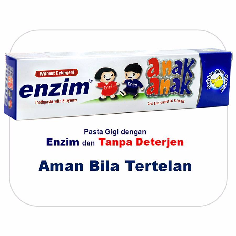Enzim Anak Bubble Gum [63g/ 50ml] Toothpaste
