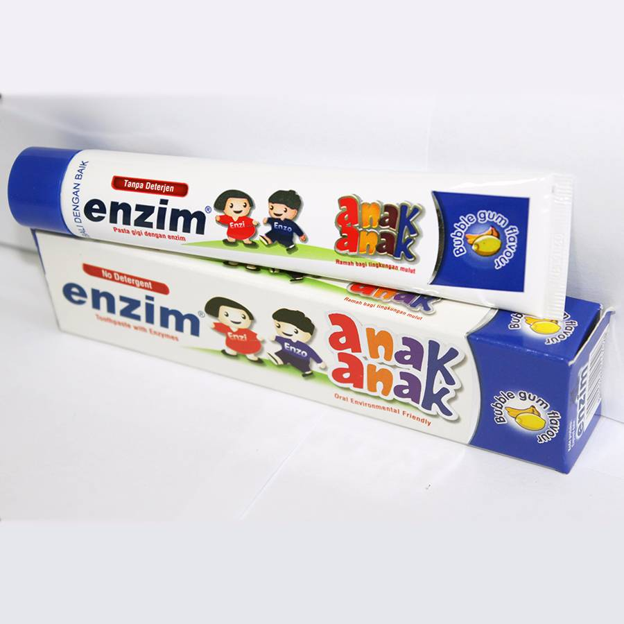 Enzim Anak Bubble Gum [63g/ 50ml] Toothpaste1