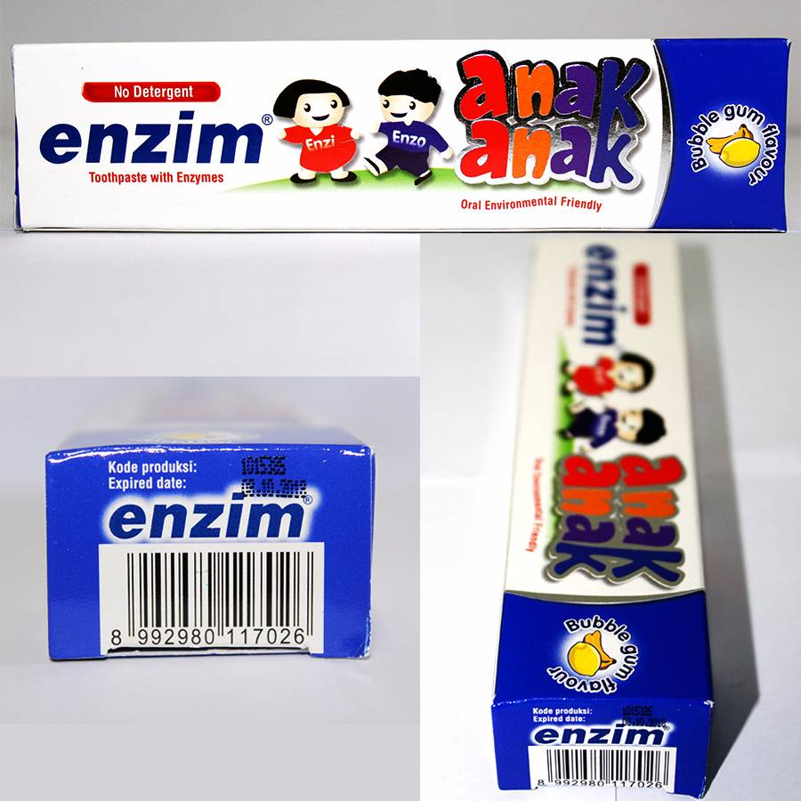 Enzim Anak Bubble Gum [63g/ 50ml] Toothpaste2