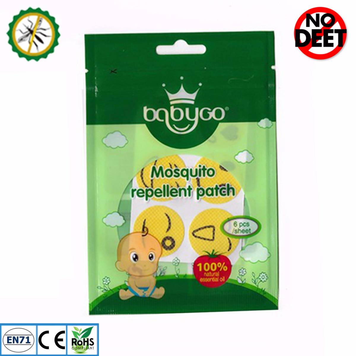 Babygo Mosquito Repellent Patch Smiley (sticker Anti Nyamuk)