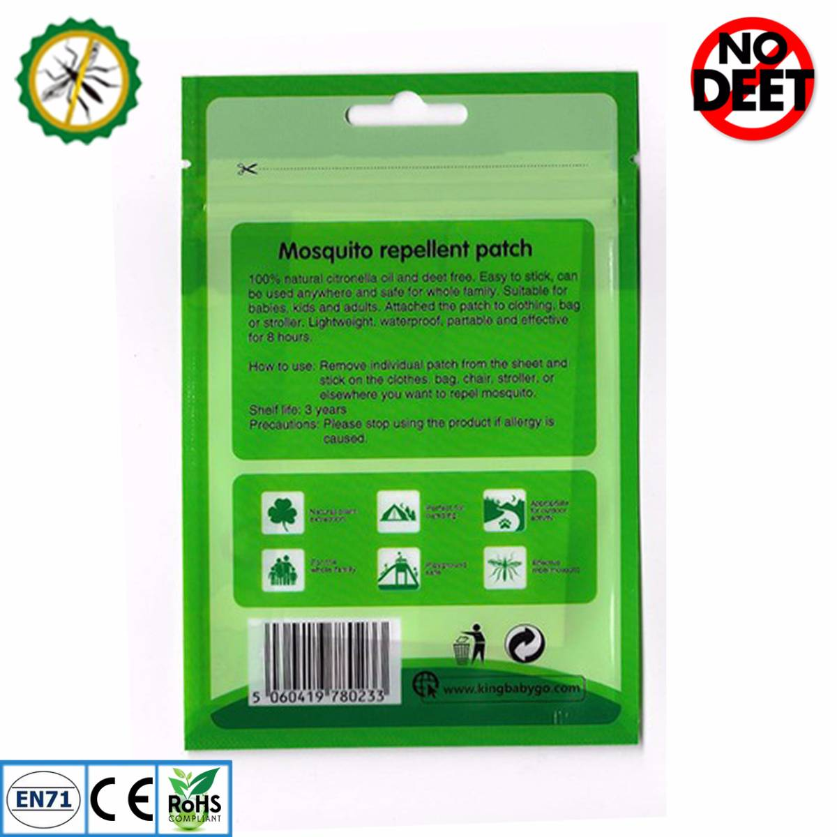Babygo Mosquito Repellent Patch Smiley (sticker Anti Nyamuk)1