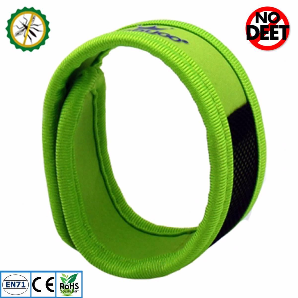 Babygo Neoprene Mosquito Repellent Wristband Green (gelang Anti Nyamuk)