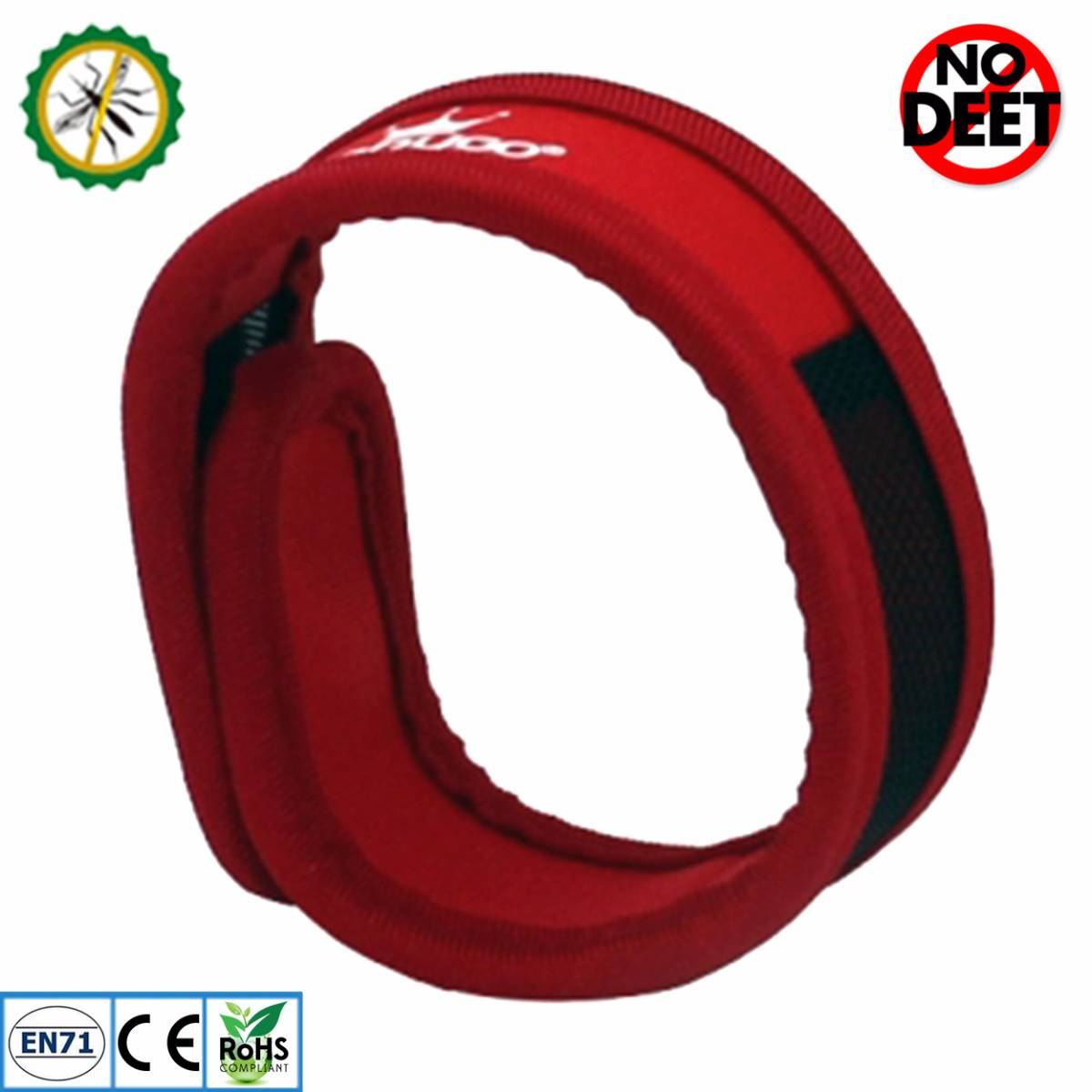 Babygo Neoprene Mosquito Repellent Wristband Red (gelang Anti Nyamuk)