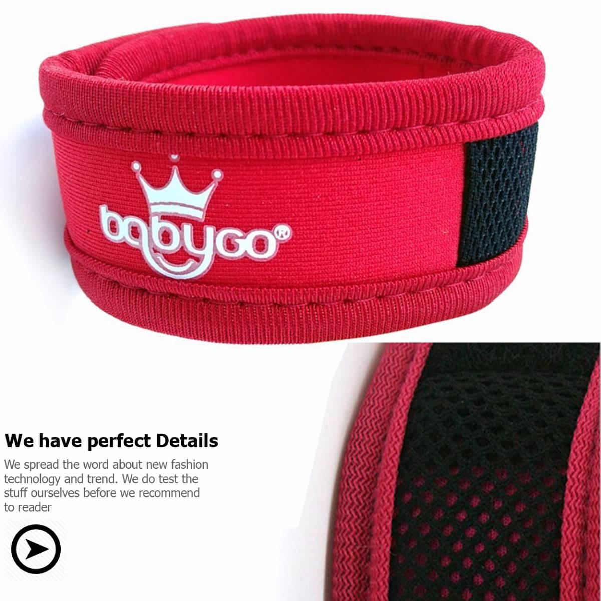 Babygo Neoprene Mosquito Repellent Wristband Red (gelang Anti Nyamuk)1
