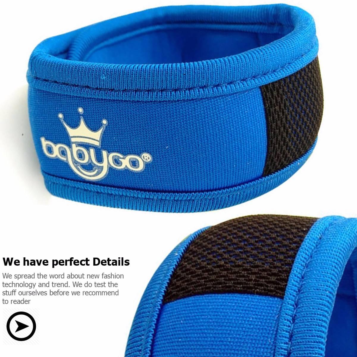 Babygo Neoprene Mosquito Repellent Wristband Blue (gelang Anti Nyamuk)1