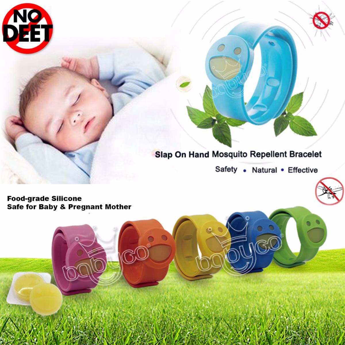Babygo Slap Mosquito Repellent Bracelet Orange (gelang Anti Nyamuk Anak)4