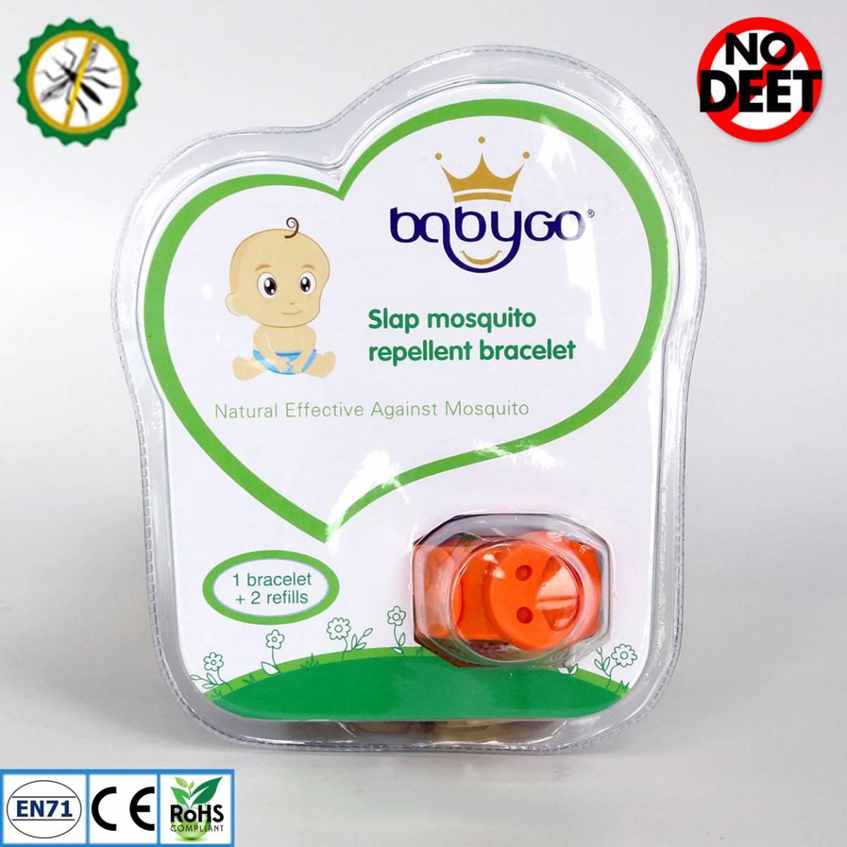 Babygo Slap Mosquito Repellent Bracelet Orange (gelang Anti Nyamuk Anak)1
