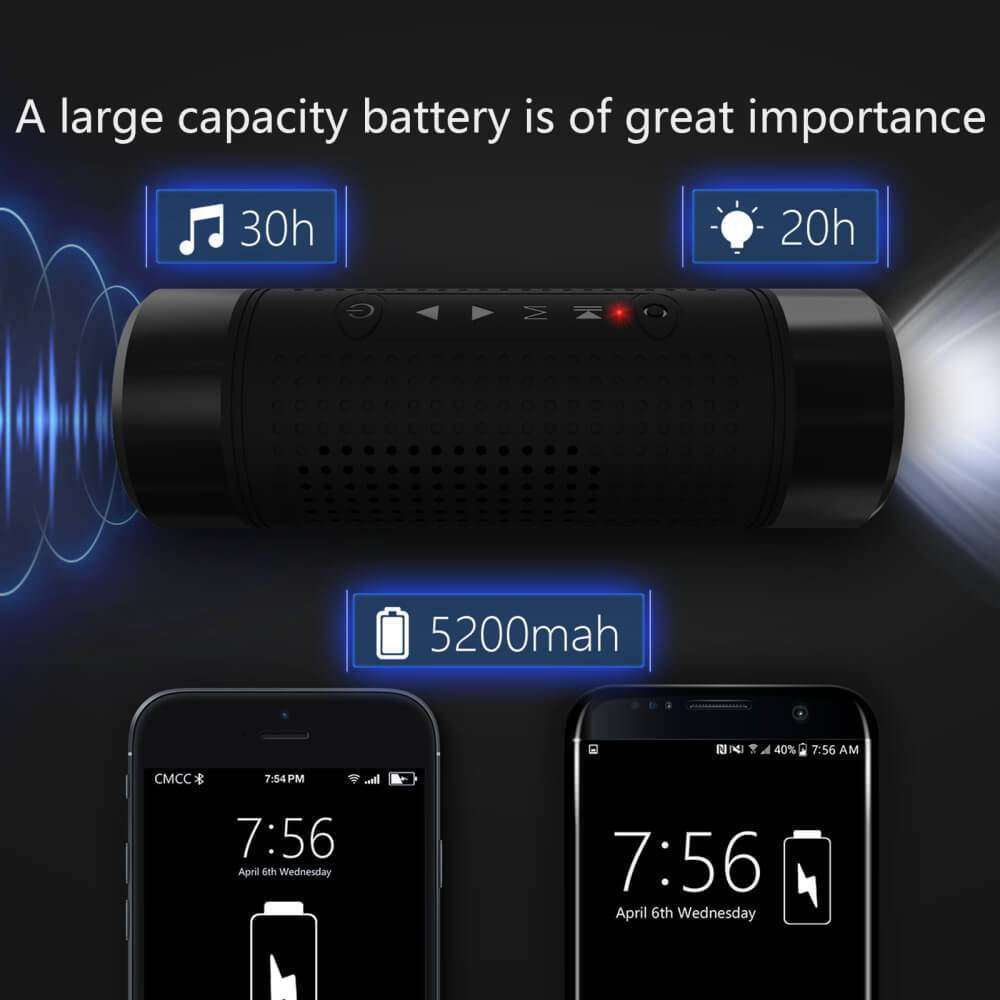 Jakcom Os2 Bluetooth Speaker Outdoor 5200 Mah Power Bank Portable Led Bicycle Flashlight1