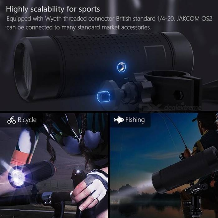 Jakcom Os2 Bluetooth Speaker Outdoor 5200 Mah Power Bank Portable Led Bicycle Flashlight4