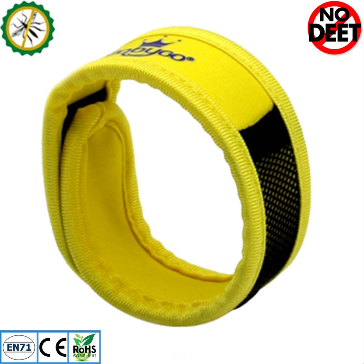 Babygo Neoprene Mosquito Repellent Wristband Yellow (gelang Anti Nyamuk)0