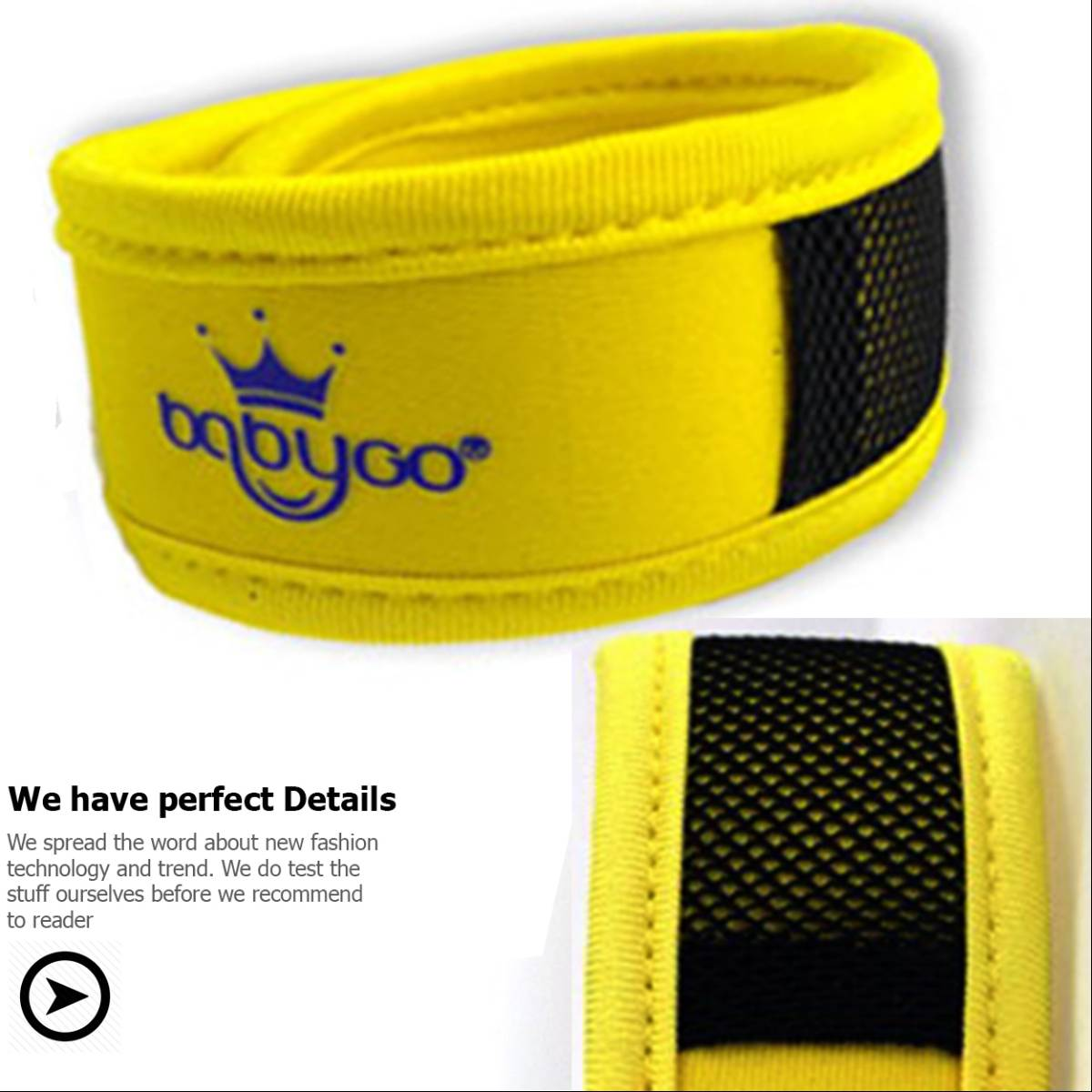 Babygo Neoprene Mosquito Repellent Wristband Yellow (gelang Anti Nyamuk)1