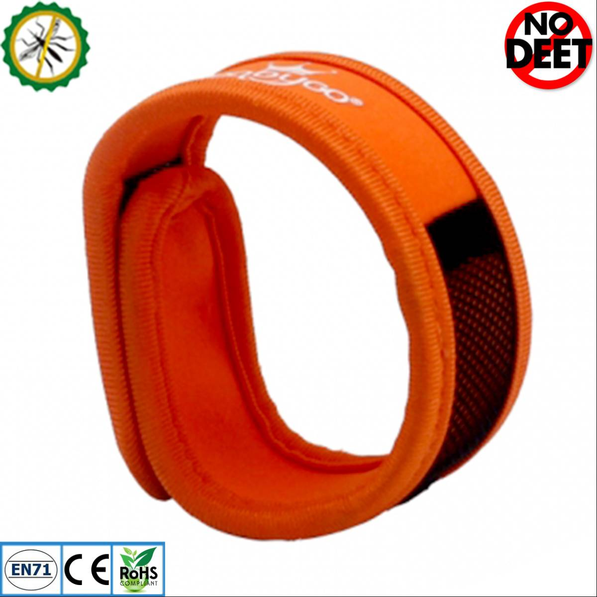 Babygo Neoprene Mosquito Repellent Wristband Orange (gelang Anti Nyamuk)