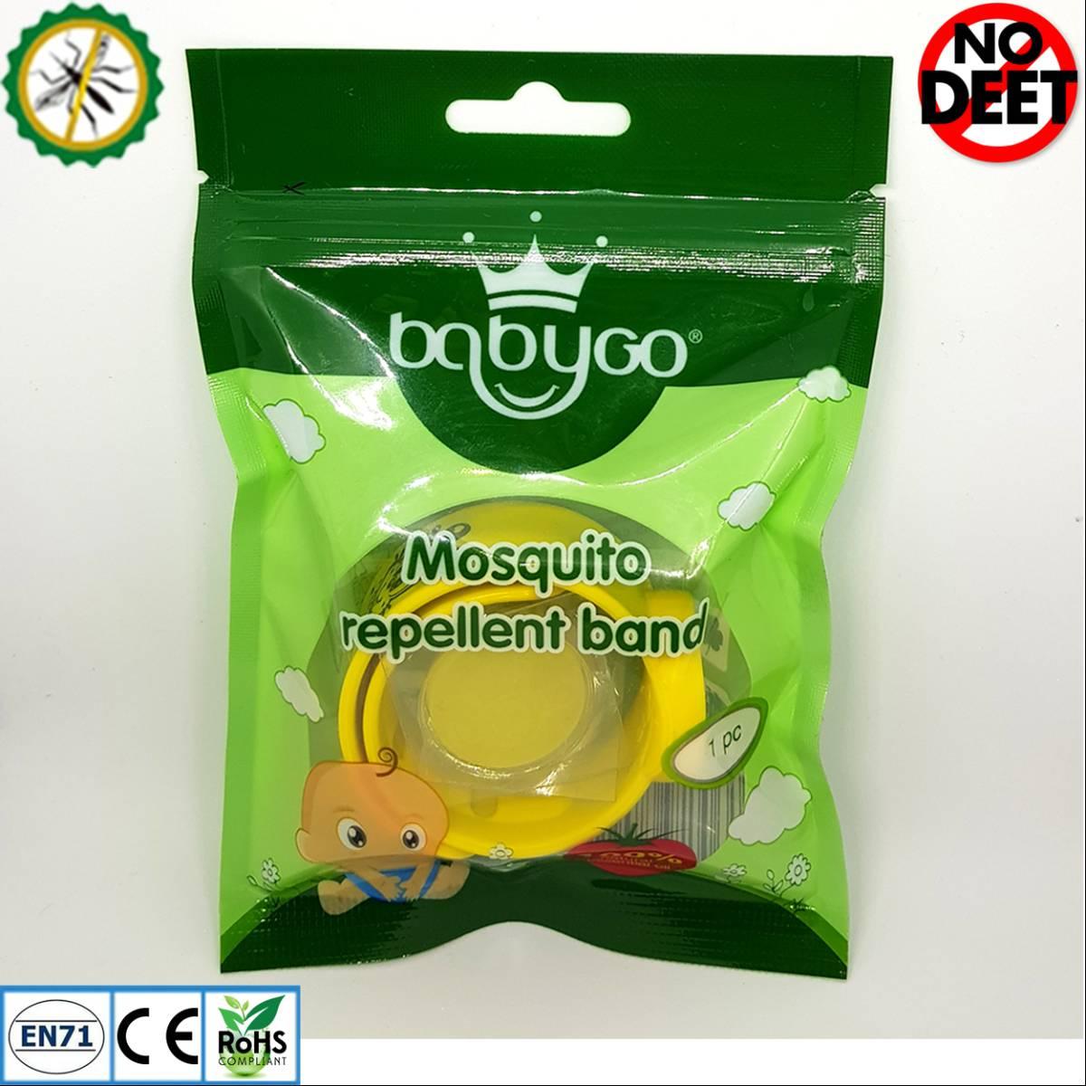 Babygo Slap Mosquito Repellent Bracelet Yellow (gelang Anti Nyamuk Anak)1