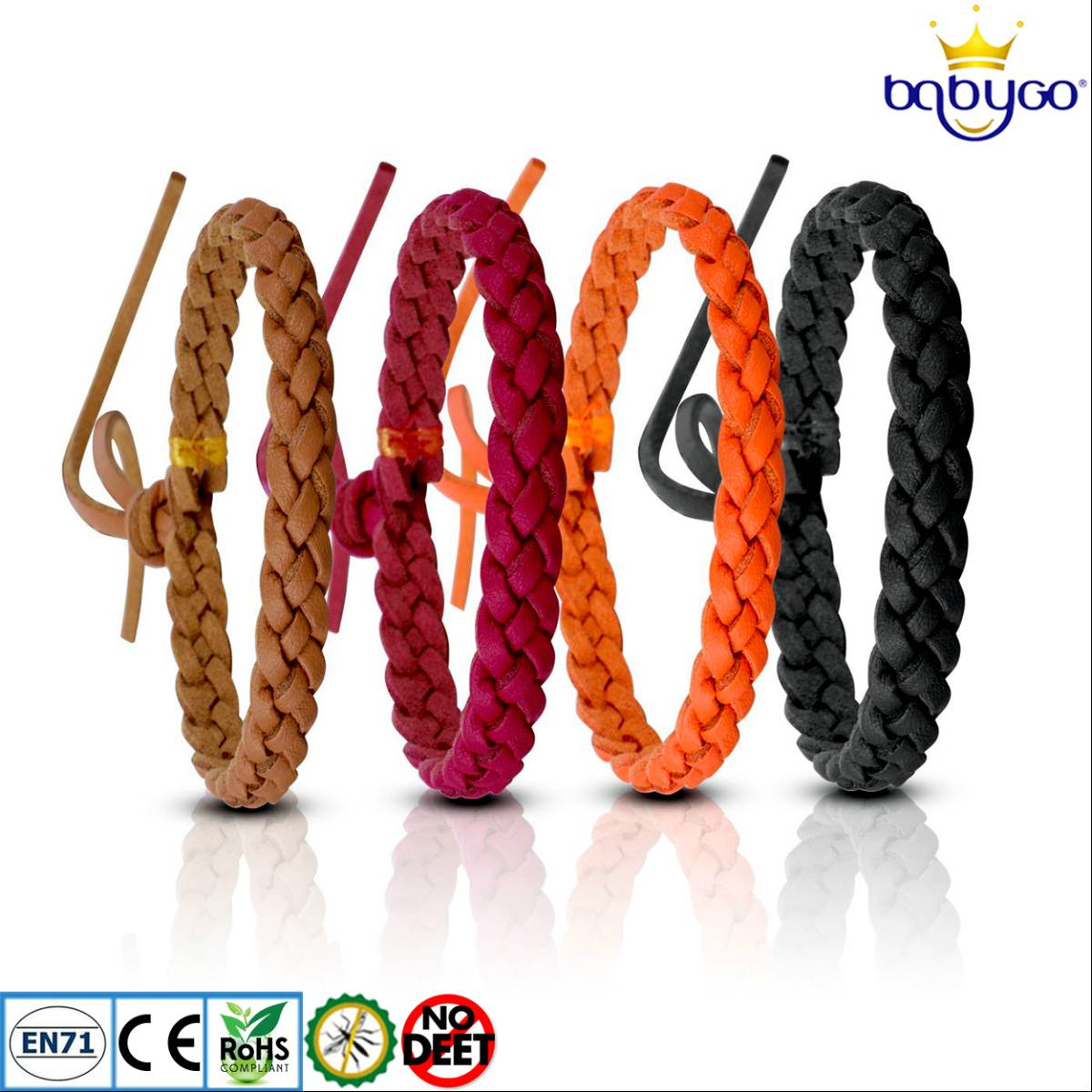Babygo Leather Mosquito Repellent Bracelet (gelang Anti Nyamuk Kulit)