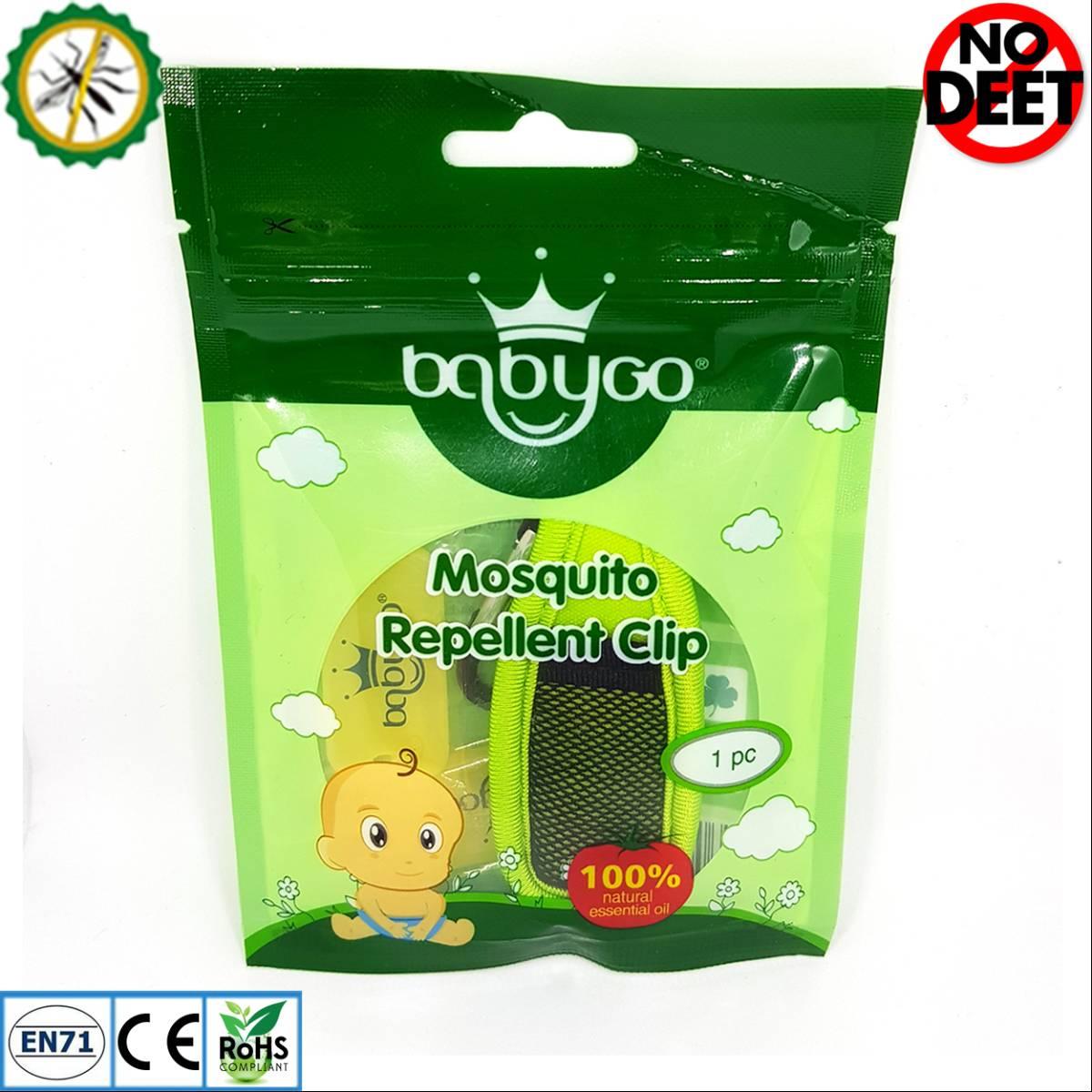 Babygo Neoprene Clip Mosquito Repellent Green (klip Anti Nyamuk)1