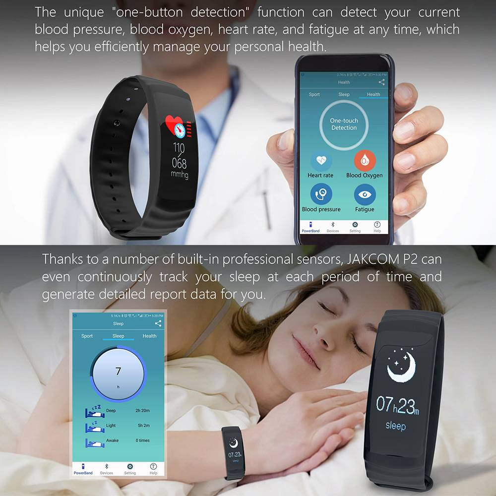 Jakcom P2 Professional Smart Sport Watch Health Smartwatch Jam Pintar Kesehatan Olahraga F...3