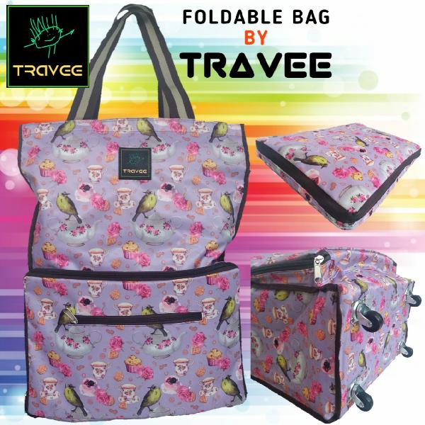 Travee-tas Traveling-tas Trolley-koper-tas Serbaguna Shabby