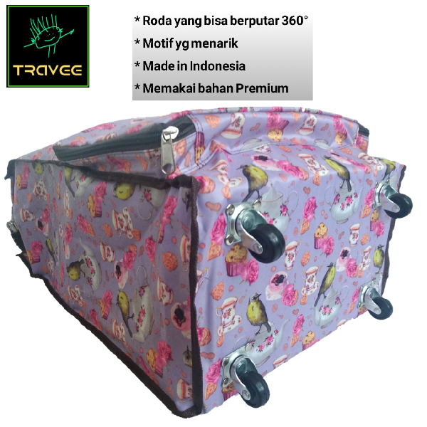 Travee-tas Traveling-tas Trolley-koper-tas Serbaguna Shabby1