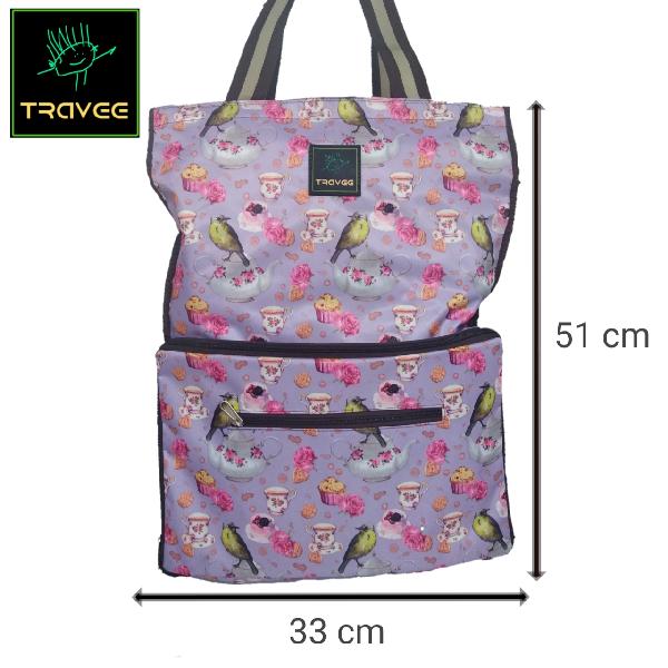 Travee-tas Traveling-tas Trolley-koper-tas Serbaguna Shabby3