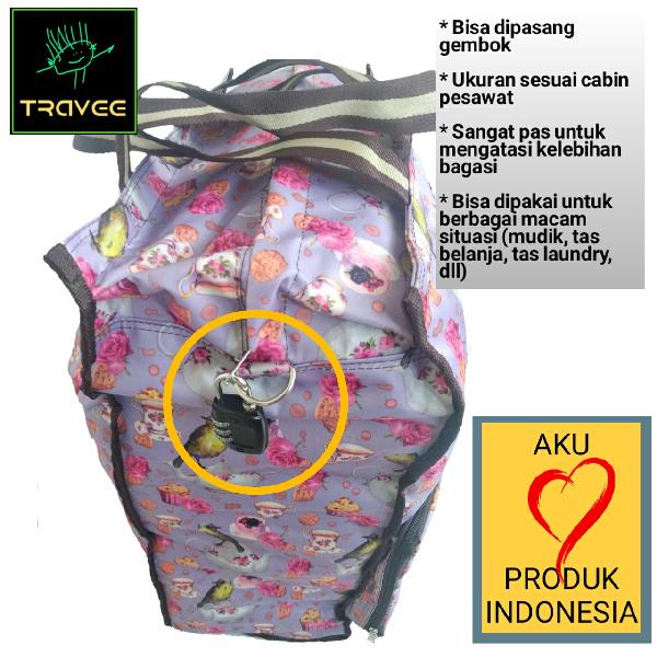 Travee-tas Traveling-tas Trolley-koper-tas Serbaguna Shabby4