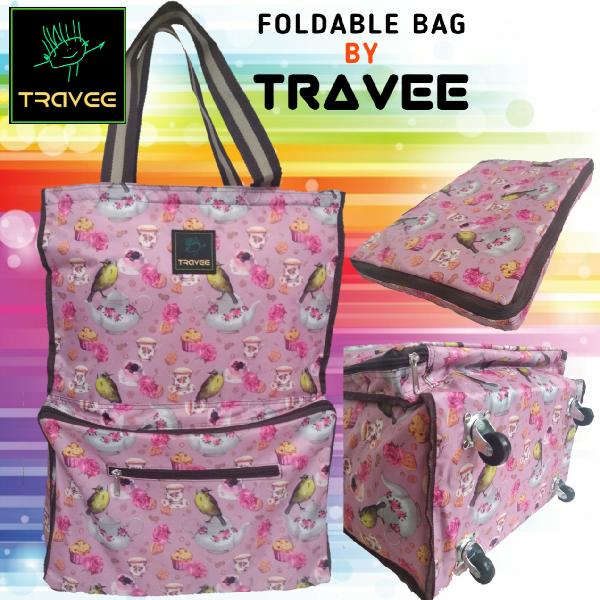 Travee-tas Traveling-tas Trolley-koper-tas Serbaguna Shabby Pink
