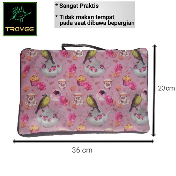 Travee-tas Traveling-tas Trolley-koper-tas Serbaguna Shabby Pink2