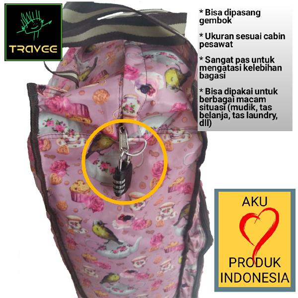 Travee-tas Traveling-tas Trolley-koper-tas Serbaguna Shabby Pink3