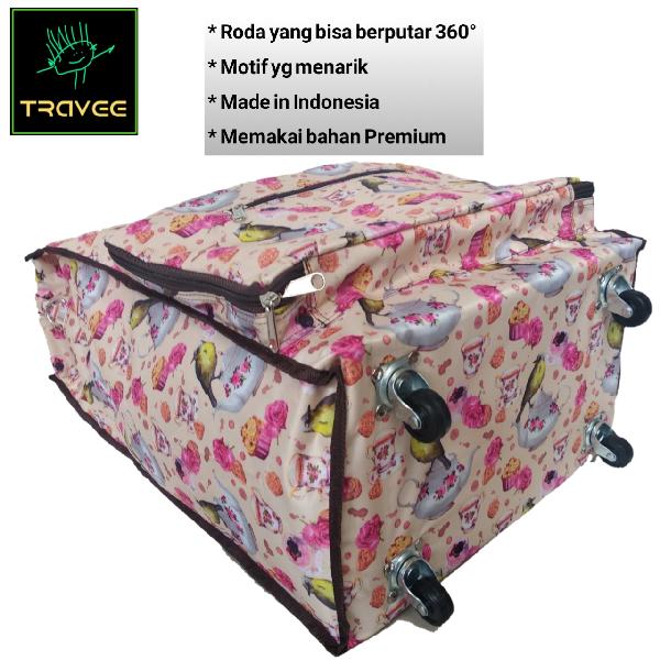 Travee-tas Traveling-tas Trolley-koper-tas Serbaguna Shabby Creme1