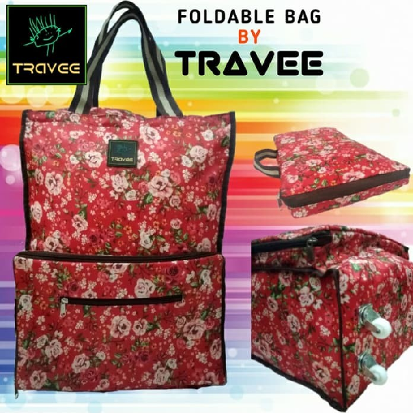 Travee-tas Traveling-tas Trolley-koper-tas Serbaguna Shabby Red