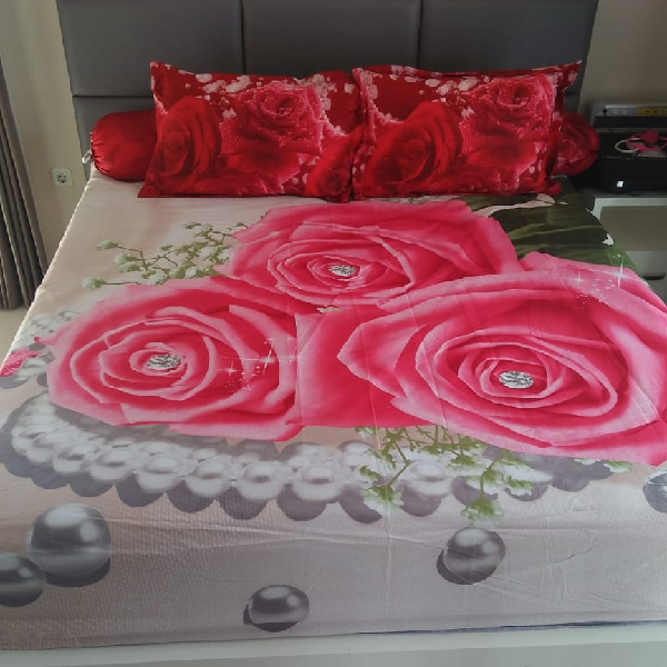 Sprei Katun Jepang Import Asli Pink Rose Ready Stock0