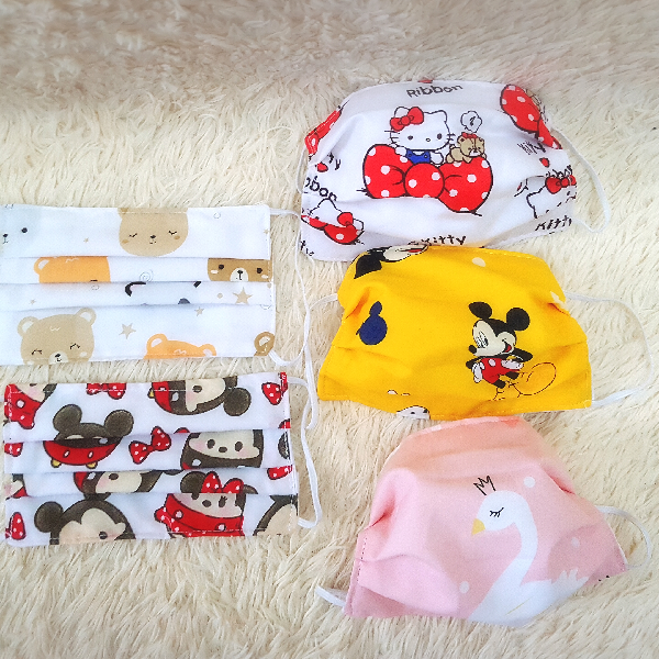 MASKER ANAK 3PLY + FREE FILTER READY STOCK