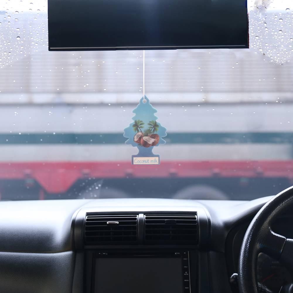 Iperfume Glxs Hanging Paper Car Perfume / Parfum Pewangi Mobil Kertas - Coconut Milk2