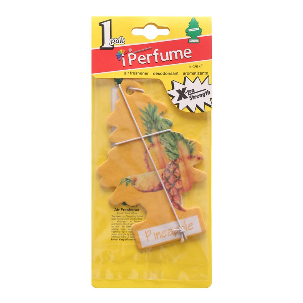 Iperfume Glxs Hanging Paper Car Perfume / Parfum Pewangi Mobil Kertas - Pineapple
